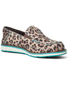 Ariat Girls' Cheetah Print Shoes - Moc Toe, Cheetah, hi-res
