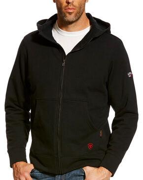 Ariat Men's Black FR Full Zip Hoodie, Black, hi-res