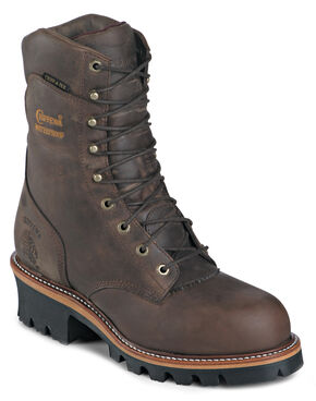 "Chippewa Insulated Waterproof Super Logger 9"" Work Boots - Steel Toe, Bay Apache, hi-res"