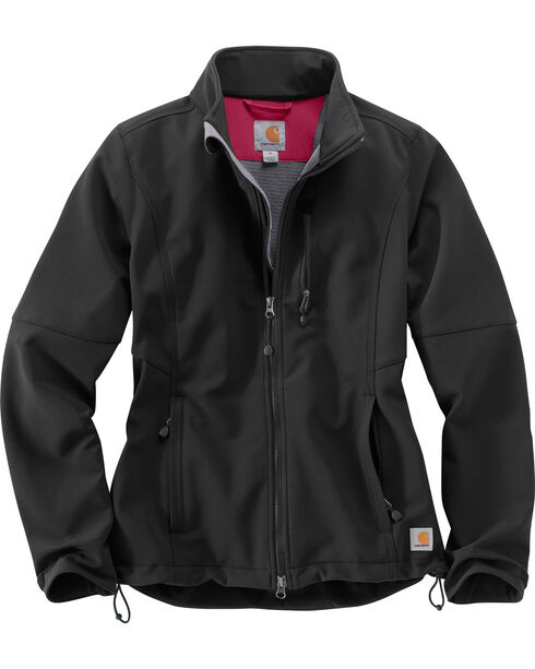 Carhartt Women's Denwood Soft Shell Jacket , Black, hi-res