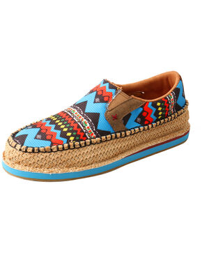 Twisted X Women's Driving Moccasin Loafers - Moc Toe, Blue, hi-res