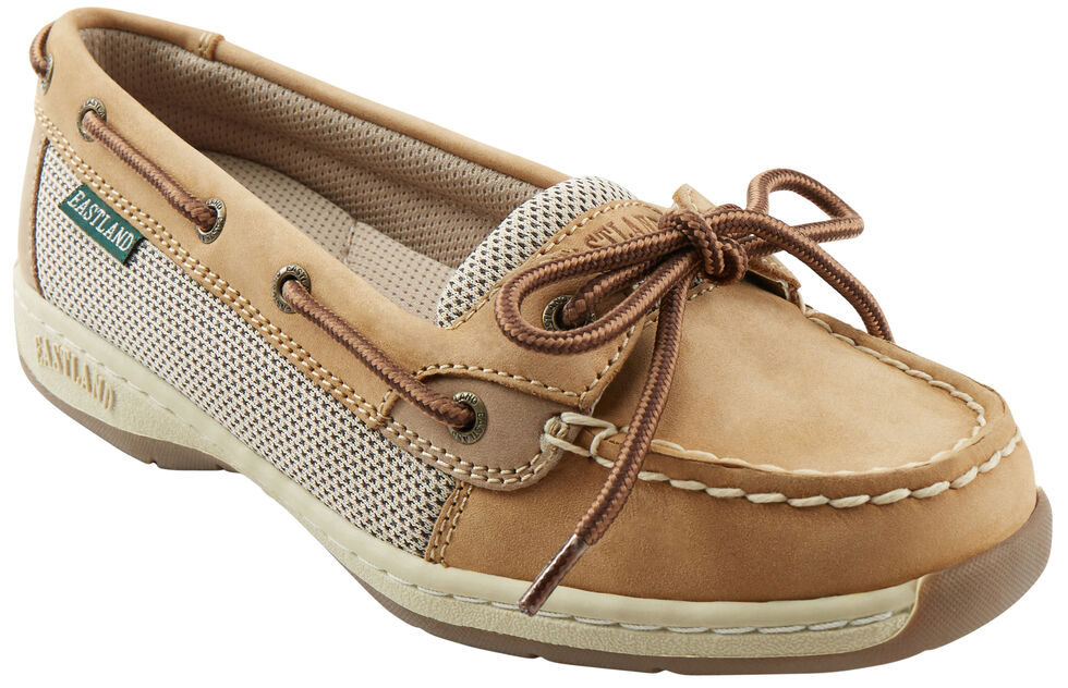 Eastland Women's Tan Sunrise Boat Shoe Slip-Ons , , hi-res