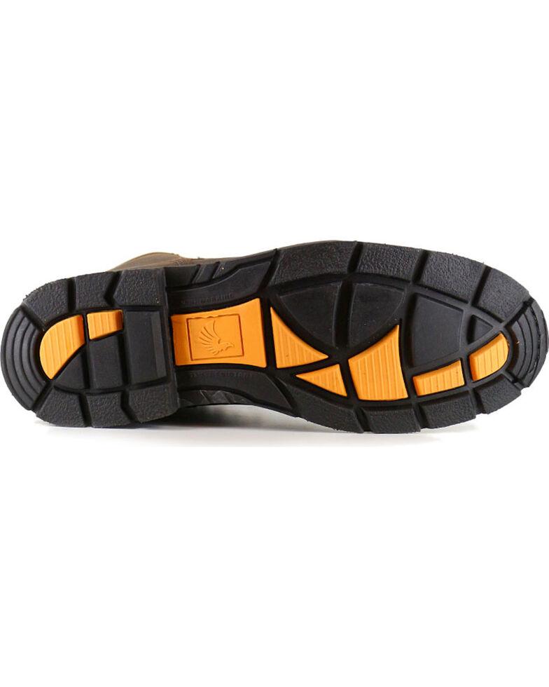 "Cody James Men's 8"" Lace-Up Kiltie Work Boots - Soft Toe, Brown, hi-res"