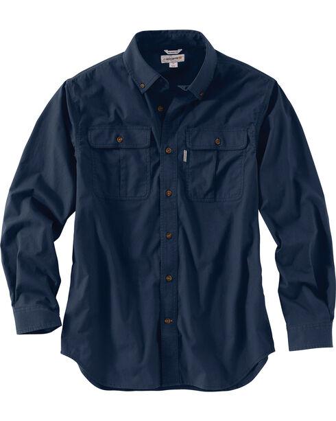 Carhartt Men's Foreman Long Sleeve Work Shirt - Big & Tall, Navy, hi-res