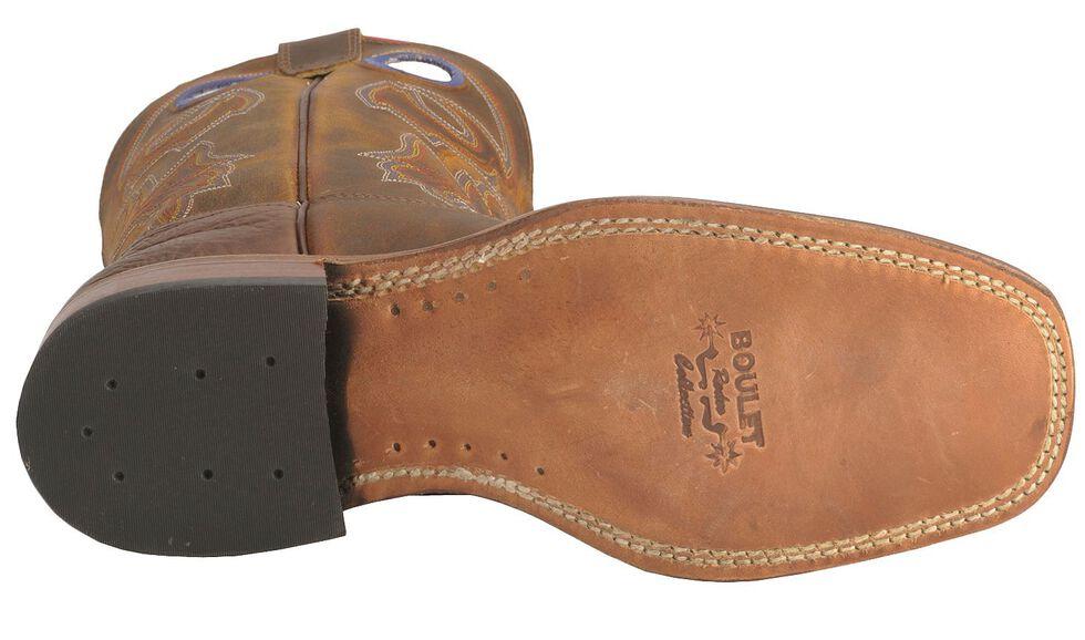 Boulet Stockman Cowboy Boots - Wide Square Toe, Tan, hi-res