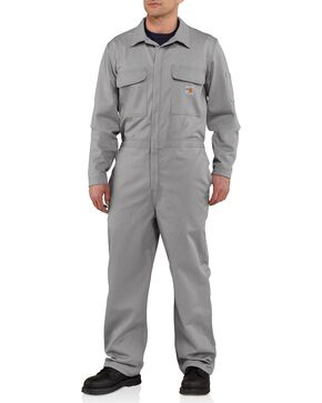 Carhartt Flame Resistant Classic Twill Coveralls - Big & Tall, Grey, hi-res