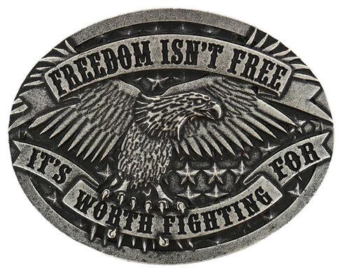 Cody James Men's Freedom Isn't Free Belt Buckle, Silver, hi-res