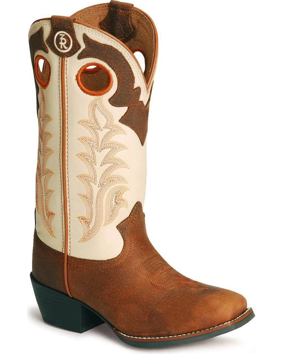 Tony Lama Youth Boys' 3R Cowboy Boots - Square Toe, Rojo, hi-res