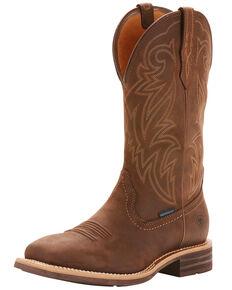 Ariat Men's Tombstone Waterproof Western Boots - Wide Square Toe, Brown, hi-res