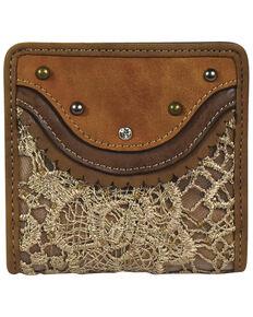 Justin Women's Bifold Tonal Lace Wallet, Tan, hi-res