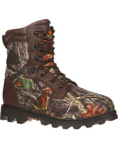 "Rocky Youth Boys' Camo Bearclaw 8"" Waterproof Boots - Round Toe , Camouflage, hi-res"