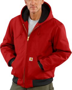 Carhartt Thermal Lined Duck Active Work Jacket, Red, hi-res