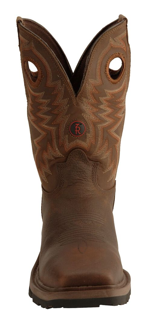 Tony Lama 3R Chocolate Waterproof Cheyenne Chaparral Boots - Composition Toe, Chocolate, hi-res