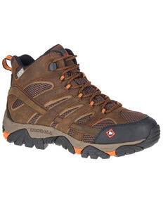 Merrell Men's MOAB Vertex Waterproof Hiking Boots - Soft Toe , Brown, hi-res