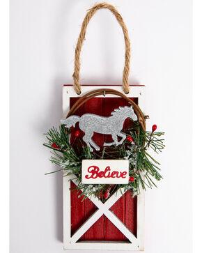 BB Ranch Barn Door Ornament, Red, hi-res