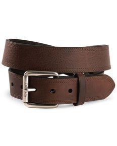 Ariat Triple Stitched Leather Belt - Reg & Big, Copper, hi-res