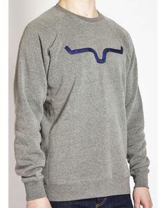 Kimes Ranch Men's Vintage Crew Neck Sweatshirt , Grey, hi-res
