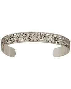 Montana Silversmiths Antiqued Montana Classic Engraved Narrow Cuff, Silver, hi-res