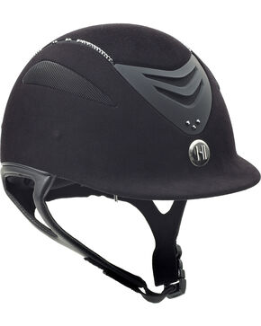 One K Defender Suede & Swarovski Stones Helmet, Black, hi-res