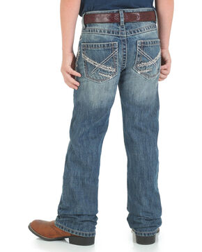 Wrangler 20X Boy's Vintage Jeans - Boot Cut, Blue, hi-res