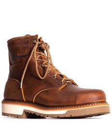 Silverado Men's Lace-Up Work Boots - Steel Toe, Tan, hi-res