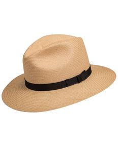 Bailey Women's Dark Panama Player Western Straw Hat , No Color, hi-res