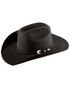 Bullhide Kids' Kingman Jr. Cattleman Wool Felt Cowboy Hat, Black, hi-res