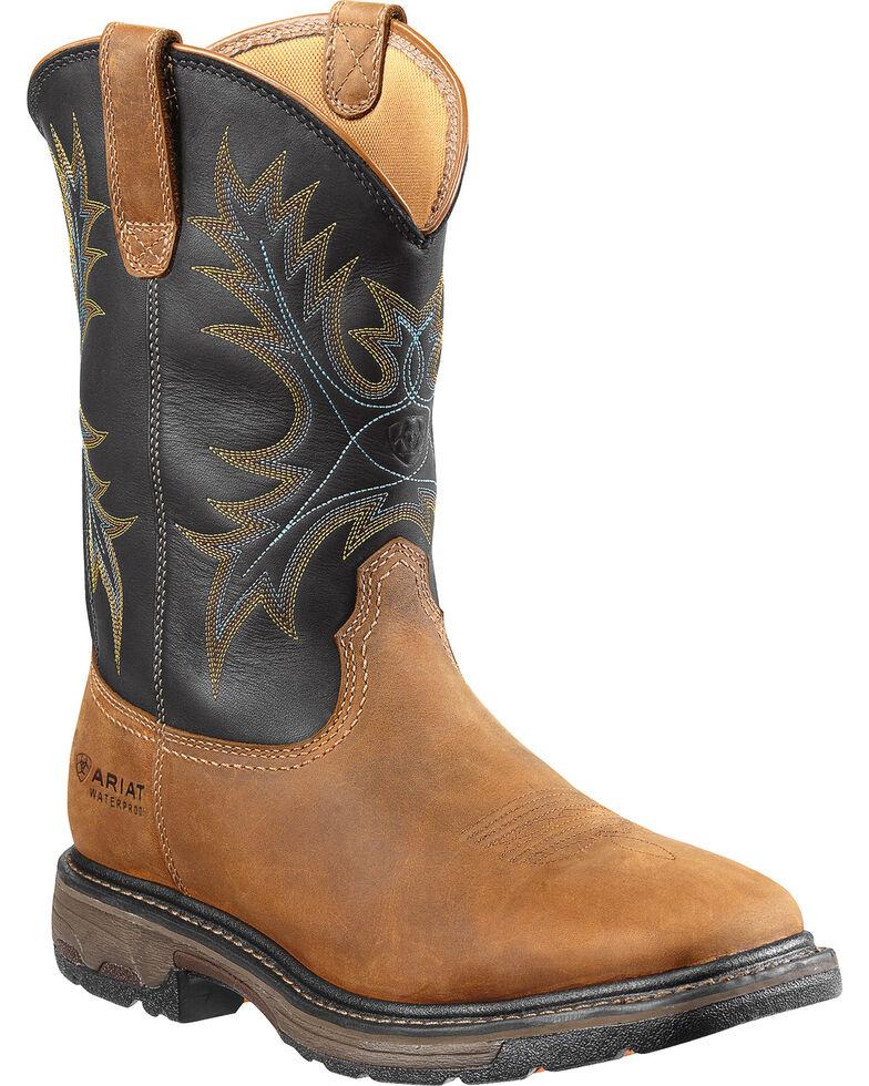 Ariat Workhog Waterproof Work Boots - Steel Toe, Aged Bark, hi-res