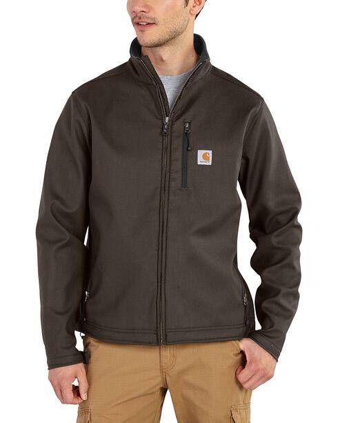 Carhartt Men's Pineville Softshell Jacket - Big & Tall, Dark Brown, hi-res