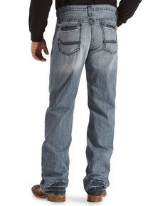 Cinch Men's Grant Light Stonewash Relaxed Boot Cut Jeans, Indigo, hi-res