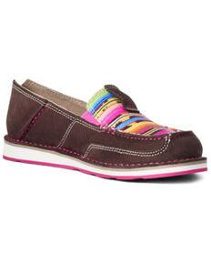 Ariat Women's Serape Cruiser Shoes - Moc Toe, Brown, hi-res