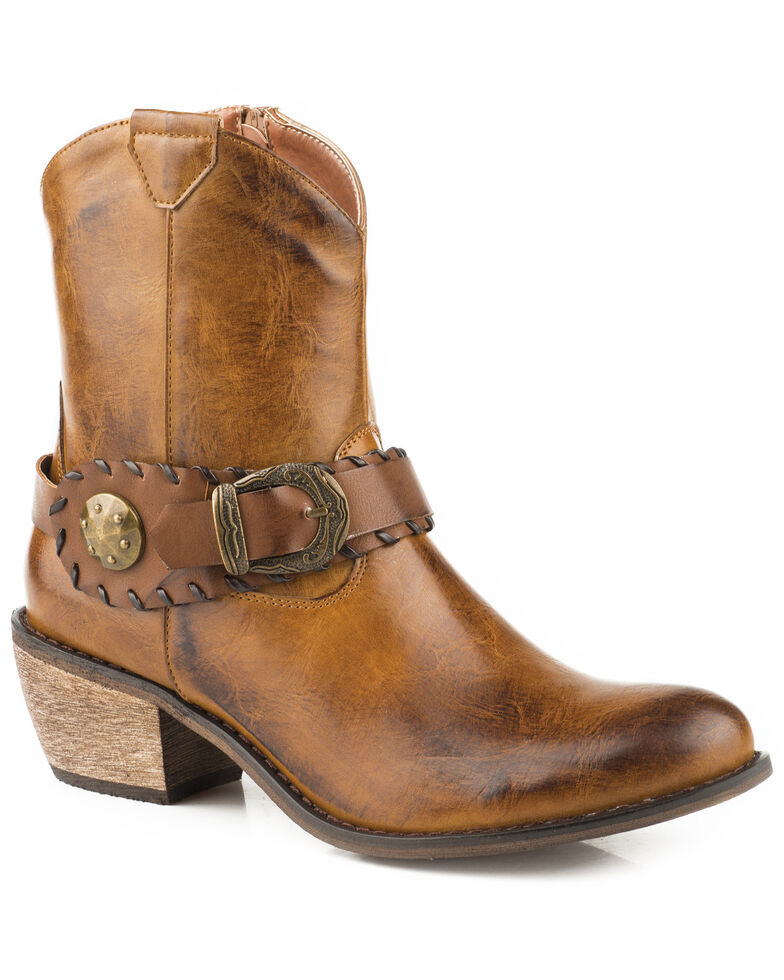 641acb8ac2f Roper Women's Ankle Harness Western Booties - Round Toe