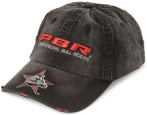 Distressed PBR Logo Cap, Black, hi-res