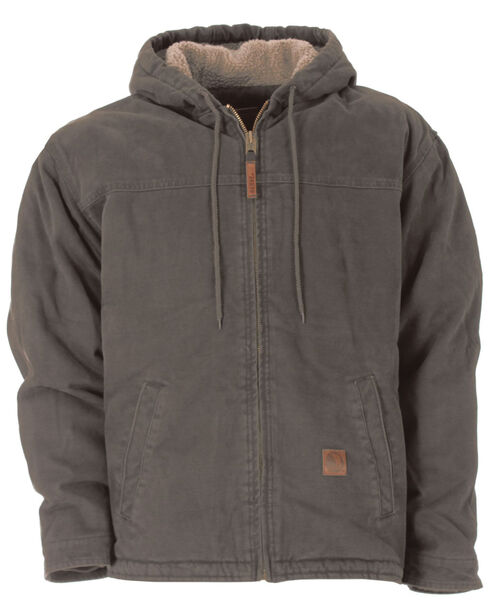 Berne Washed Hooded Work Coat - XLT and 2XT, Grey, hi-res