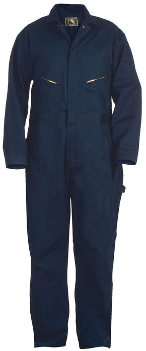 Berne Deluxe Unlined Coveralls - Tall (38 - 54), Navy, hi-res