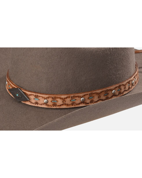 Phunky Horse Adjustable Leather Hat Bad , Lt Brown, hi-res
