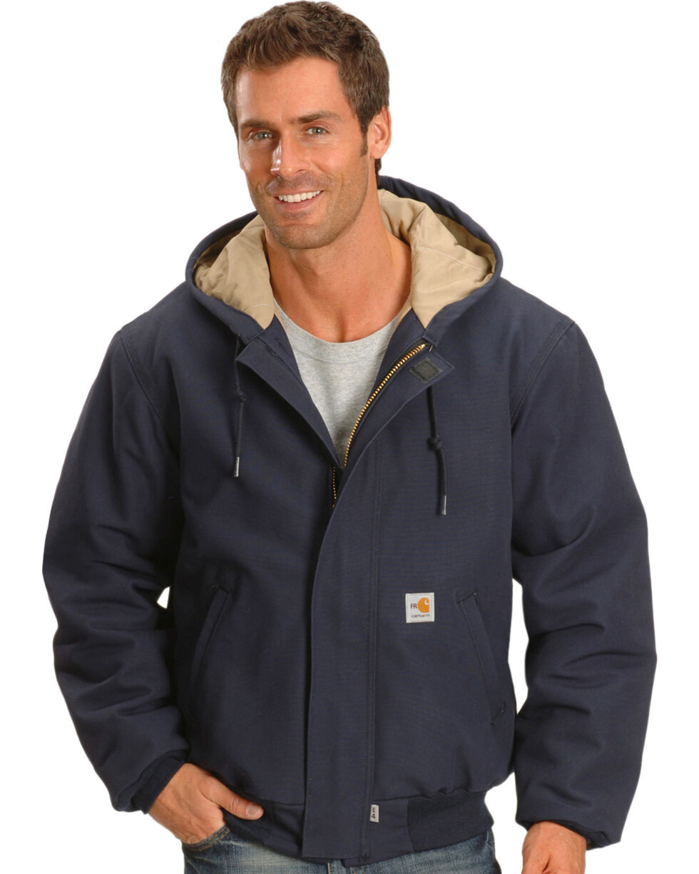 Carhartt Flame Resistant Work Jacket, Navy, hi-res