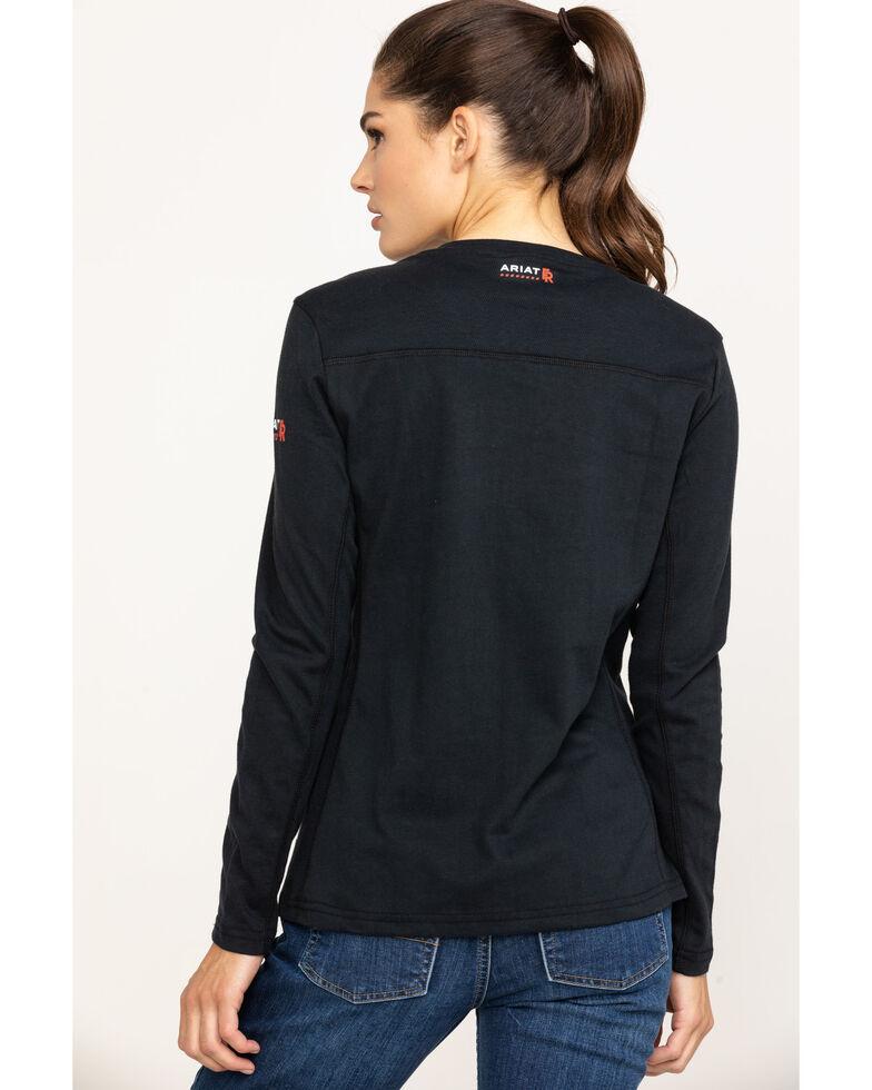 Ariat Women's Black FR Ac Long Sleeve Work Top, Black, hi-res