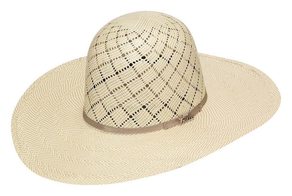 Twister 10X Shantung Open Crown Straw Cowboy Hat, Ivory, hi-res