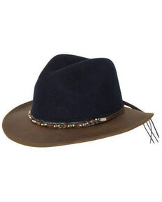 Outback Trading Co. Navy Canberra Wool Felt Western Hat , Navy, hi-res