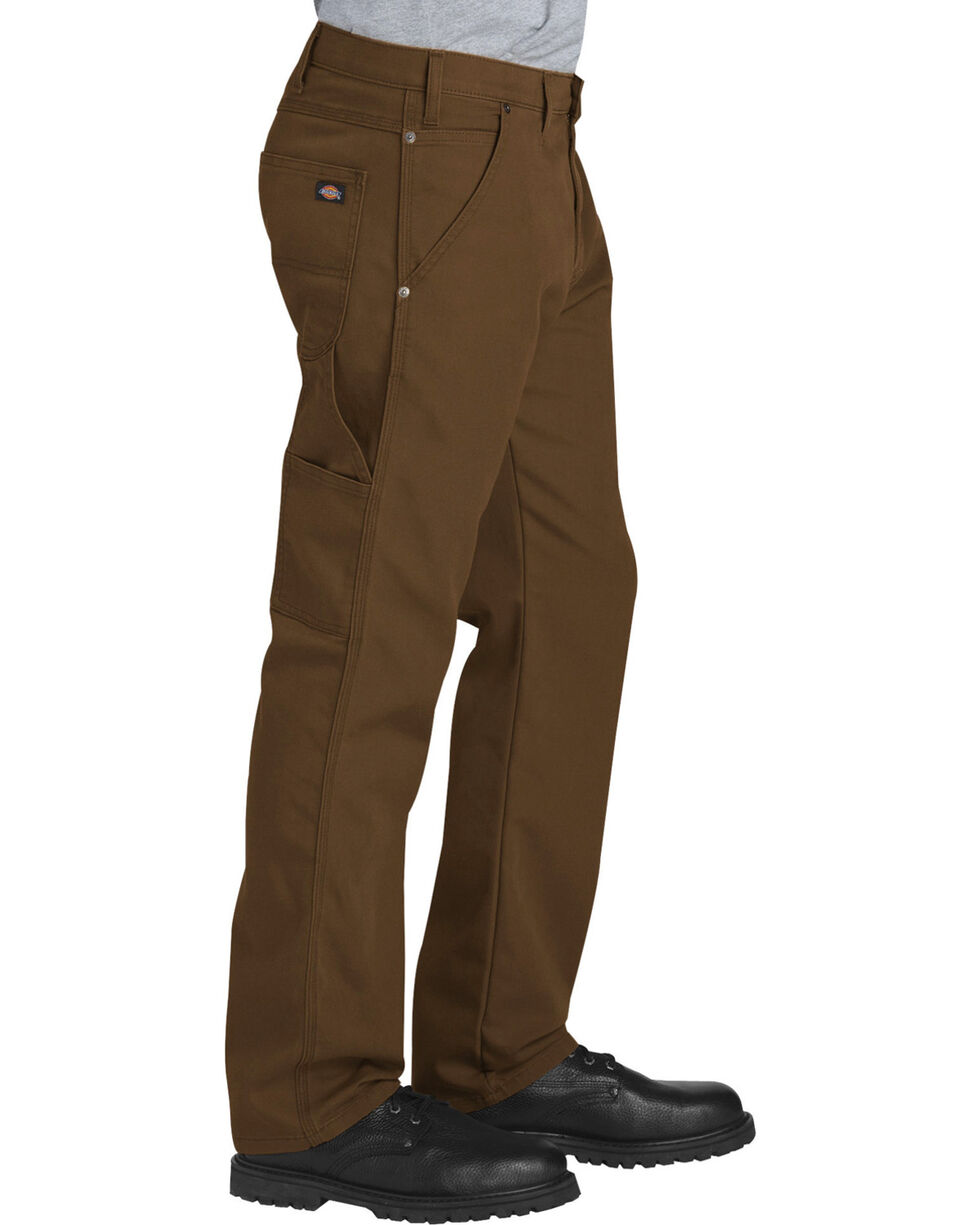 Dickies Men's Brown Tough Max Carpenter Pants - Straight Leg , Brown, hi-res