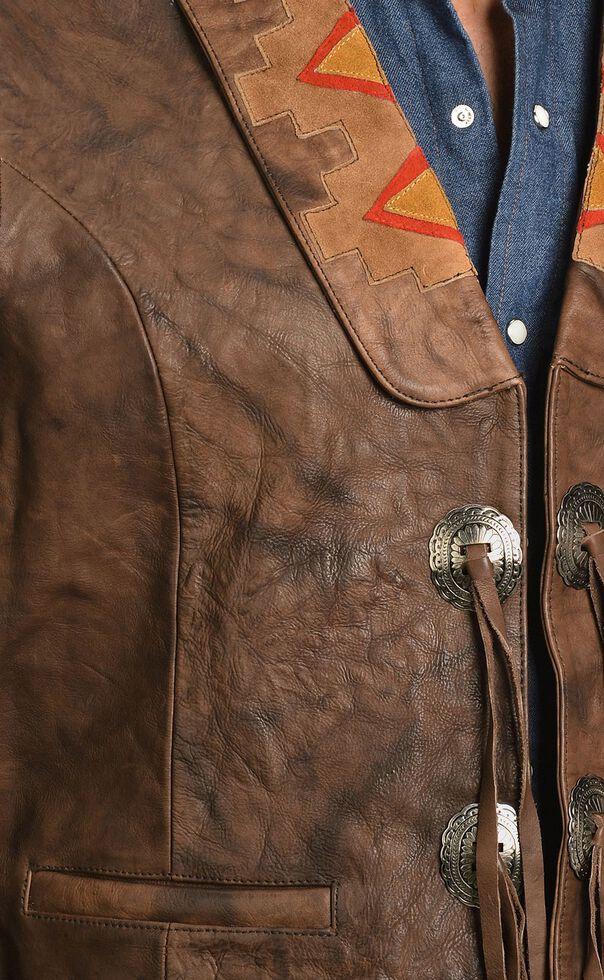 Kobler Circle of Life Leather Vest, Acorn, hi-res