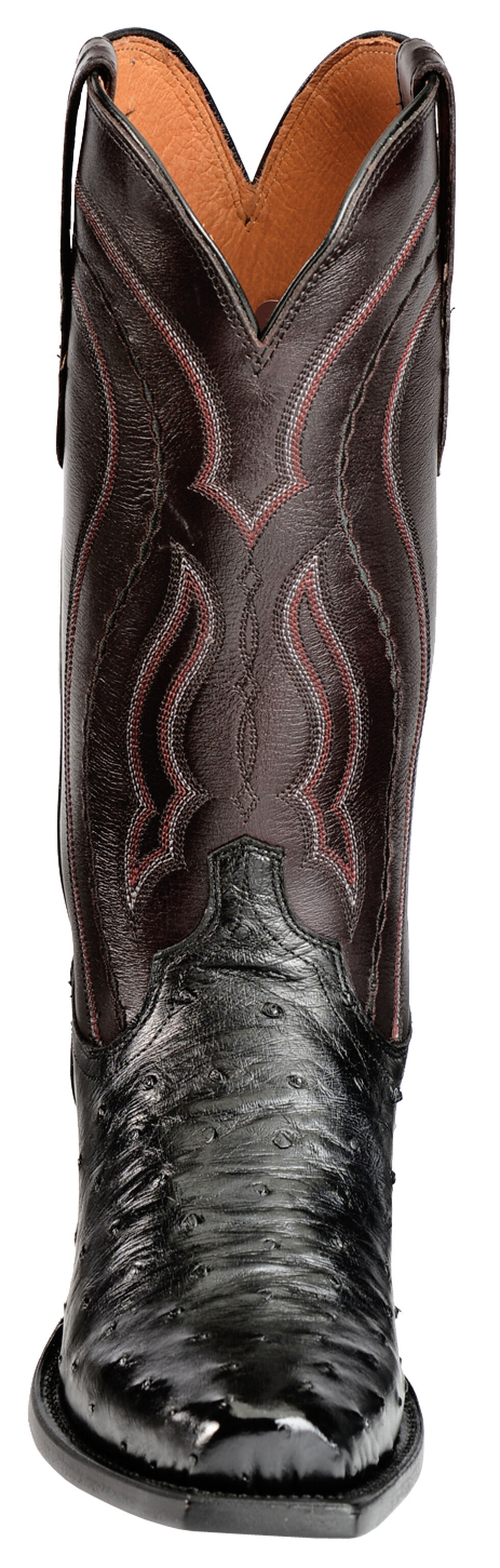 Lucchese Handcrafted 1883 Full Quill Ostrich Western Boots - Snoot Toe, Black, hi-res