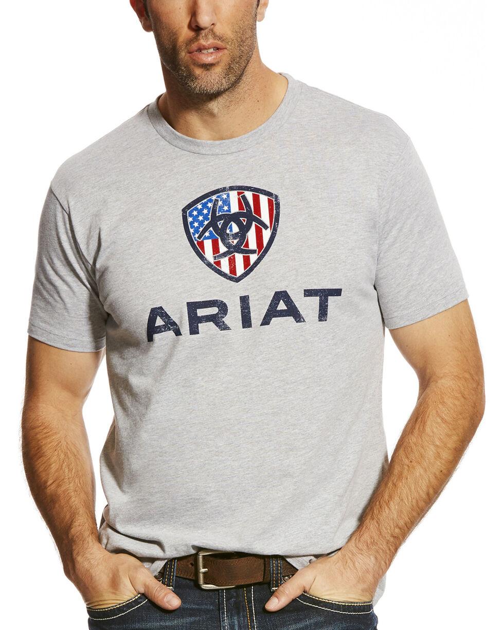 Ariat Men's Grey Liberty USA Tee , Grey, hi-res