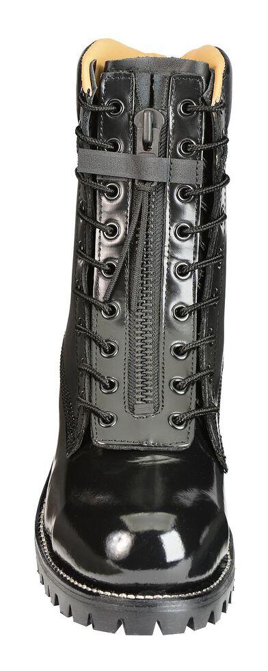 "Chippewa Polishable 8"" Black Zip and Lace-Up Work Boots - Steel Toe, Black, hi-res"