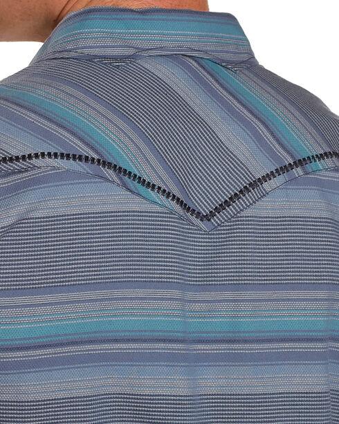 Moonshine Spirit Men's Baja Striped Short Sleeve Shirt , Turquoise, hi-res