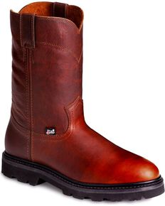 Justin Men's Screwdriver Electrical Hazard Pull-On Work Boots - Soft Toe, Tan, hi-res