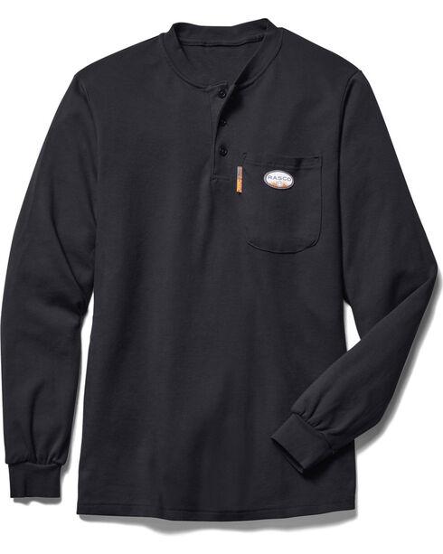 Rasco Men's Black FR Pocket Henley, , hi-res
