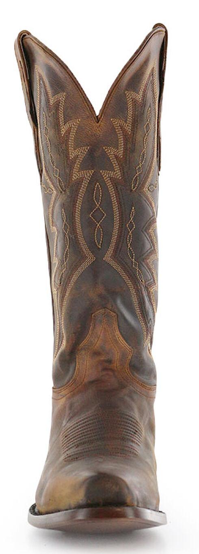 El Dorado Distressed Goat Cowboy Boots - Square Toe, Brown, hi-res