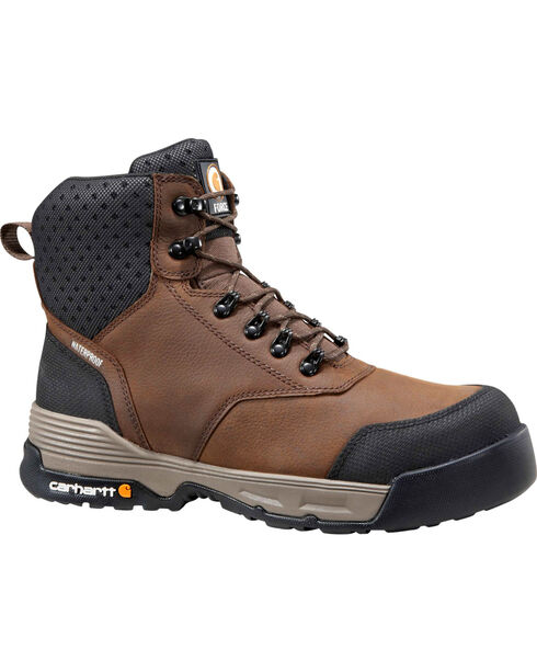 """Carhartt Force Men's 6"""" H2O Brown Work Boots - Comp Toe, Chocolate, hi-res"""